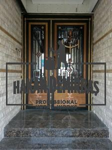 Göksel İnşaat'ın apartmanlarından örnek Çapa Desenli Ferforje Kapı | Hakan Demirbaş Ferforje