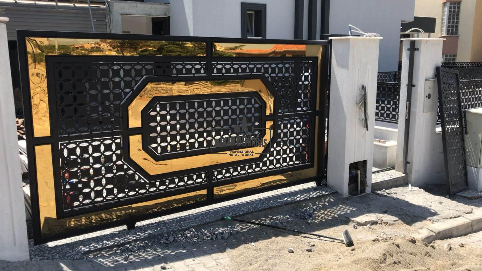 ltın varaklı otopark kapısı - ferforje kapı- hakan demirbaş