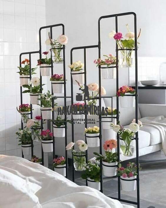 ev içi ferforje çiçeklik modeli hakan demirbaş ferforje izmir